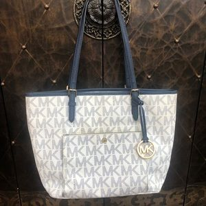 Michael Kors tote with matching coin purse